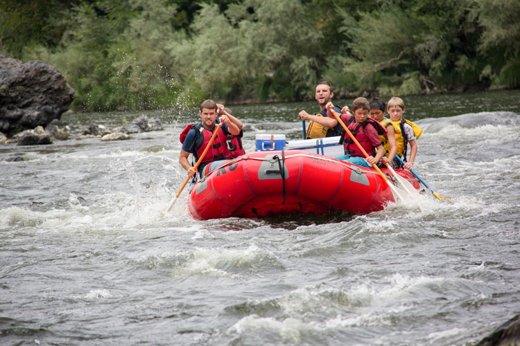Intense Expressions while Rafting